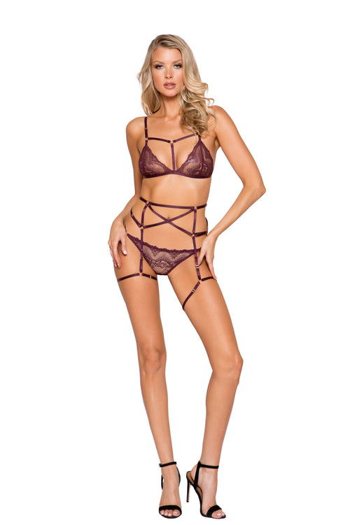 3pc Cage Bra Set