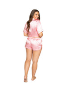 LOVE Satin Pajama Set