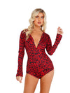 LI414 - Cozy & Comfy Heart Shaped Leopard Romper