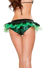 SH3287 - Mermaid Shorts with Attached Iridescent Skirt