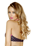 Halter Top Black/Pink