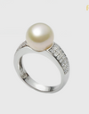 Bride Pearl Wedding Ring - FIN R0161