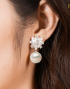 FRESHWATER PEARL SNOWFLAKE EARRINGS FIN E3261