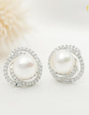 FRESHWATER PEARL ROSE PEARL EARRINGS FIN E5287