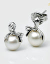FRESHWATER PEARL RIBBON EARRINGS FIN E5369