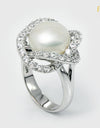 FRESHWATER PEARL CALIFORNIA POPPY RING FIN R9007