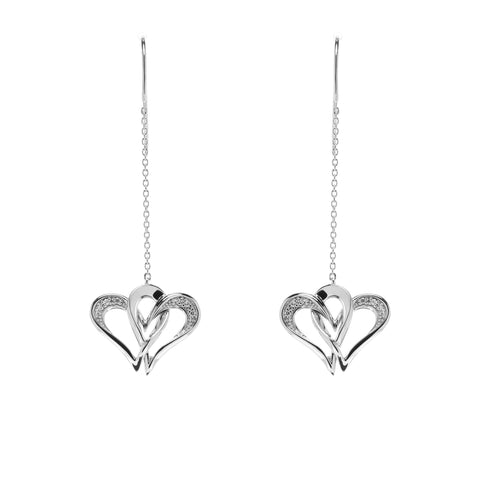 Two Of One Heart Collection - Double Heart Earring - H002E