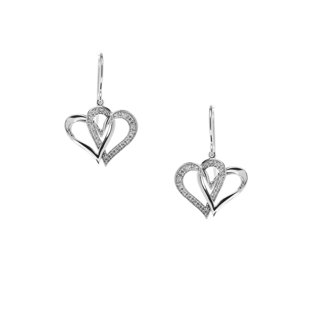 Two Of One Heart Collection - Double Heart Earring - H005E