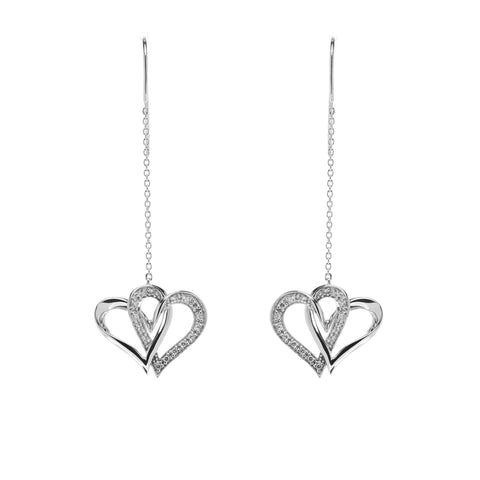 Two Of One Heart Collection - Double Heart Earring - H006E