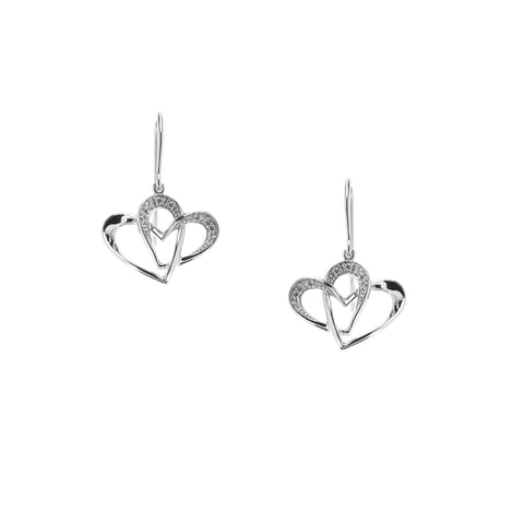 Two Of One Heart Collection - Double Heart Earring - H007E