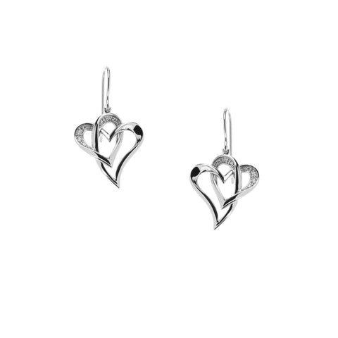 Two Of One Heart Collection - Double Heart Earring - H009E