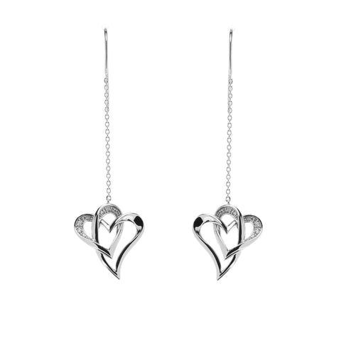 Two Of One Heart Collection - Double Heart Earring - H010E