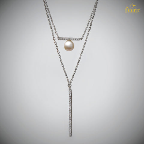 Pearl Necklace / Finifer Pearl Necklace / Minimalist Pearl Necklace / Christmas Gift-FIN-N0142