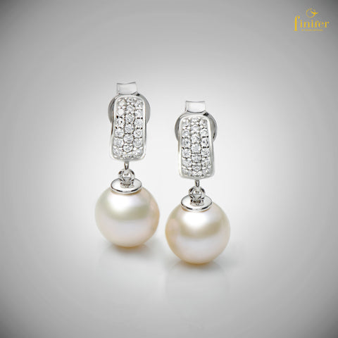 Studs Pearl Earrings / Drop Studs Pearl Earrings / Wedding Jewelry / Christmas Gift