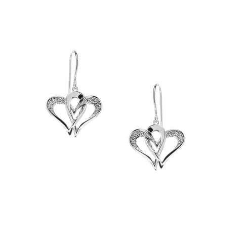 Two Of One Heart Collection - Double Heart Earring - H001E