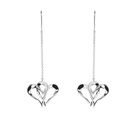 Two Of One Heart Collection - Double Heart Earring - H004E