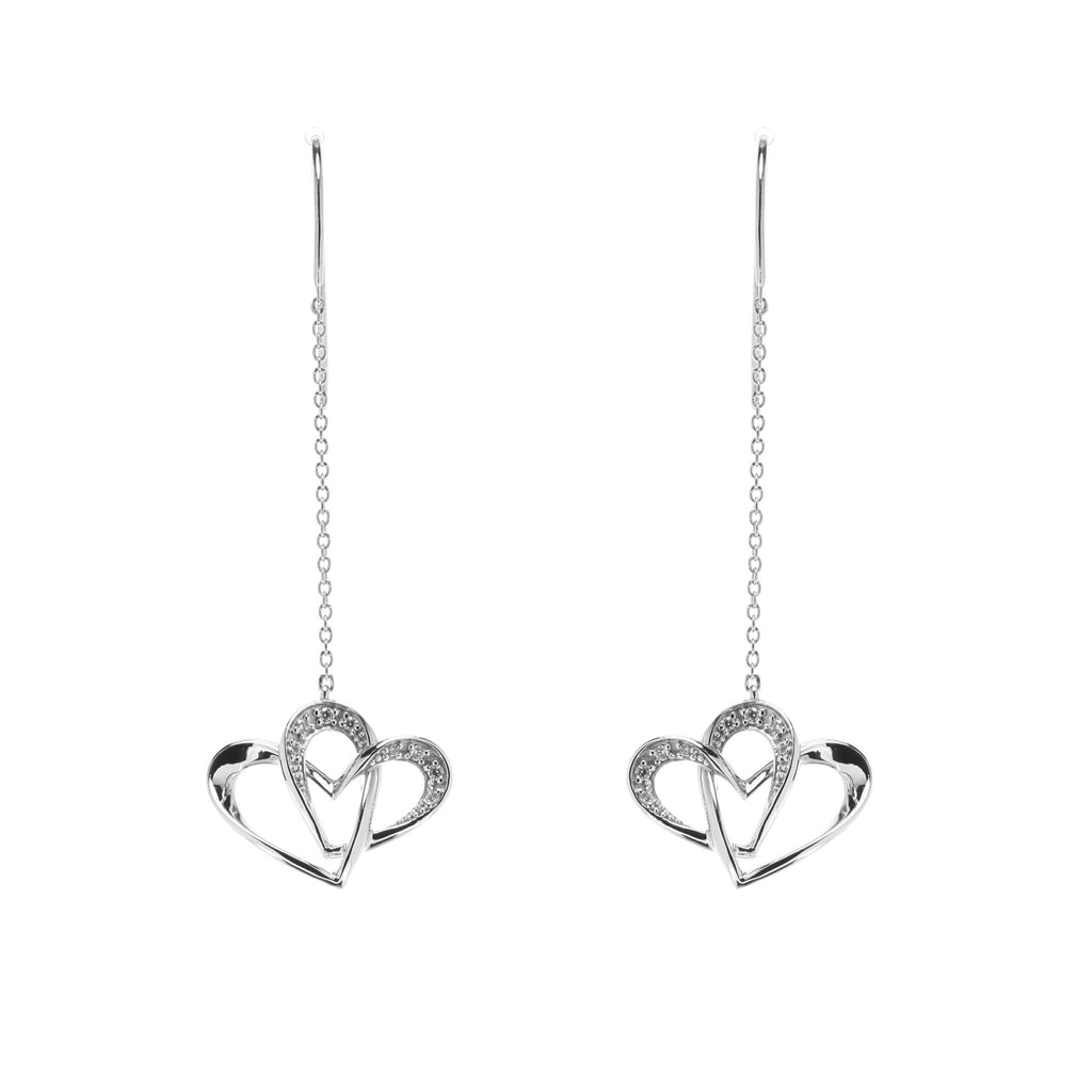 Two Of One Heart Collection - Double Heart Earring - H008E