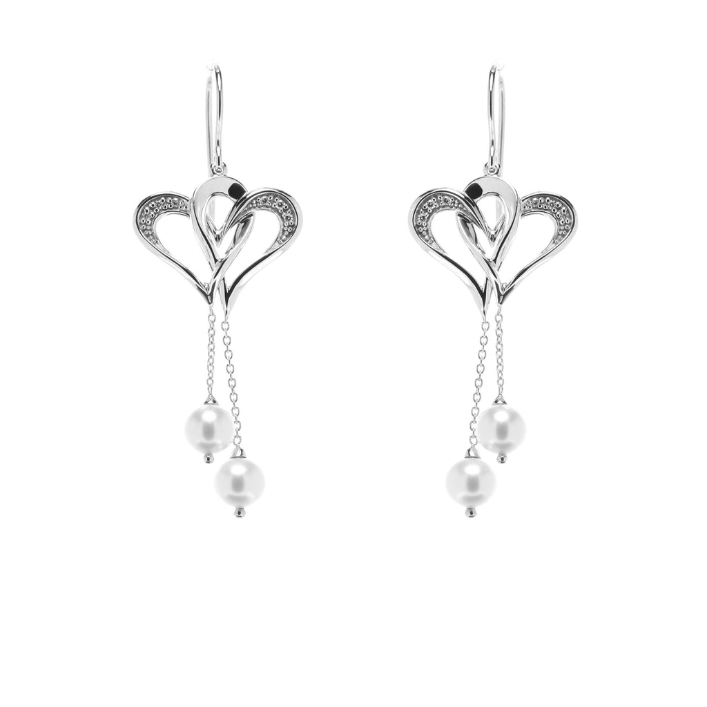 Two Of One Heart Collection - Double Heart Earring - H011E