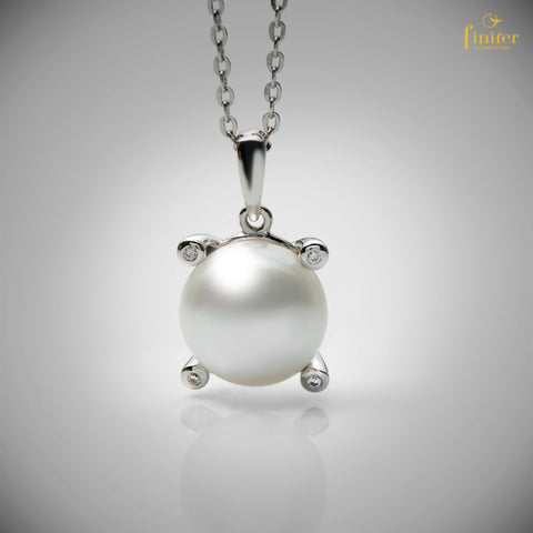 Freshwater Pearl Pendant / Minimalist Pearl Pendant / Mother's Day Gift / Christmas Gift-FIN-P0155