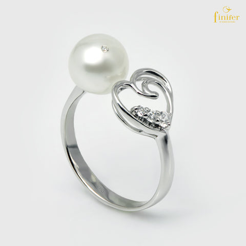 Endless Love Pearl Ring, Freshwater Pearl Ring, Love Pearl Ring, Pearl 7-8mm, FIN-R5473
