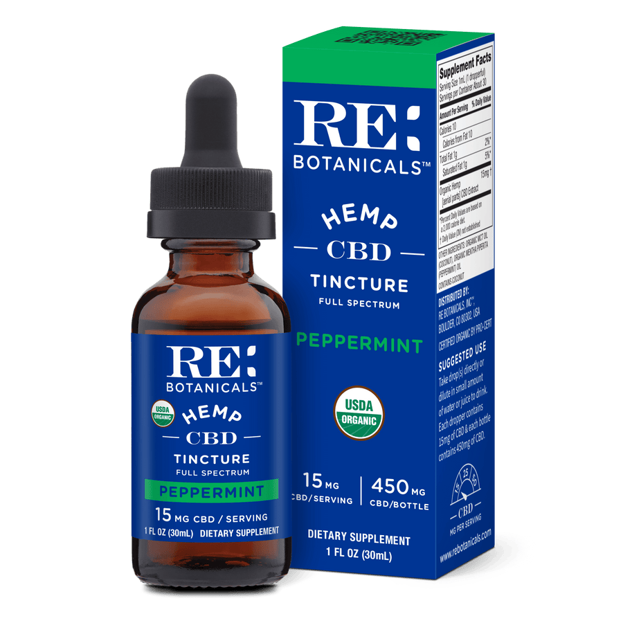 Hemp 15mg Peppermint Tincture - 30mL