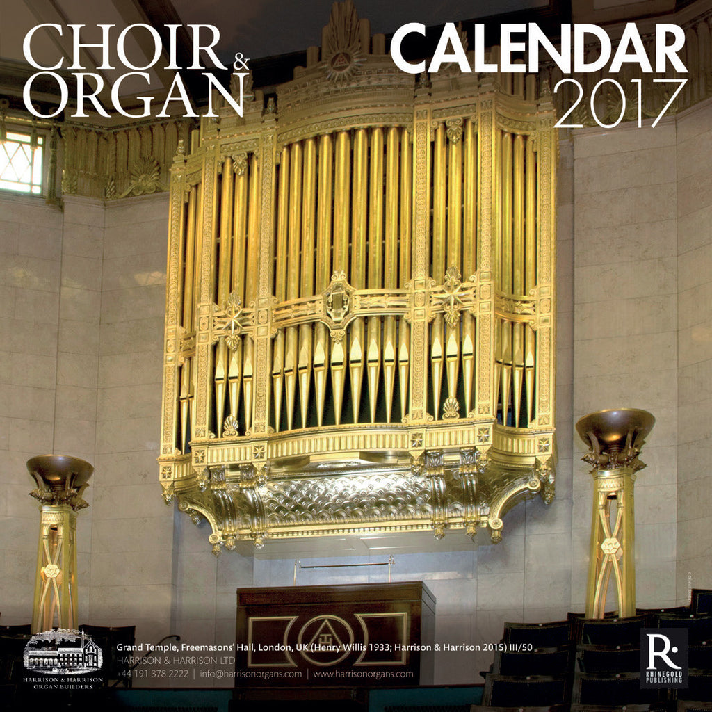 Choir & Organ Calendar 2017