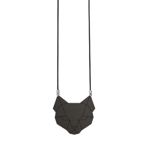 Black cat necklace by Estonian design brand KIRJU available at www.omaasi.com or #tallinnconceptstore Oma Asi Design and Oma Asi