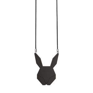 Black bunny necklace by Estonian design brand KIRJU available at www.omaasi.com or #tallinnconceptstore Oma Asi Design and Oma Asi