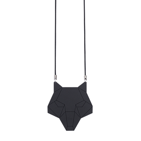 Black wolf necklace by Estonian design brand KIRJU available at www.omaasi.com or #tallinnconceptstore Oma Asi Design and Oma Asi