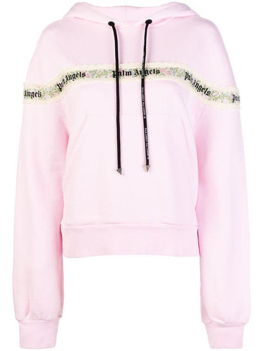 Palm Angels Flower Tape Hoodie