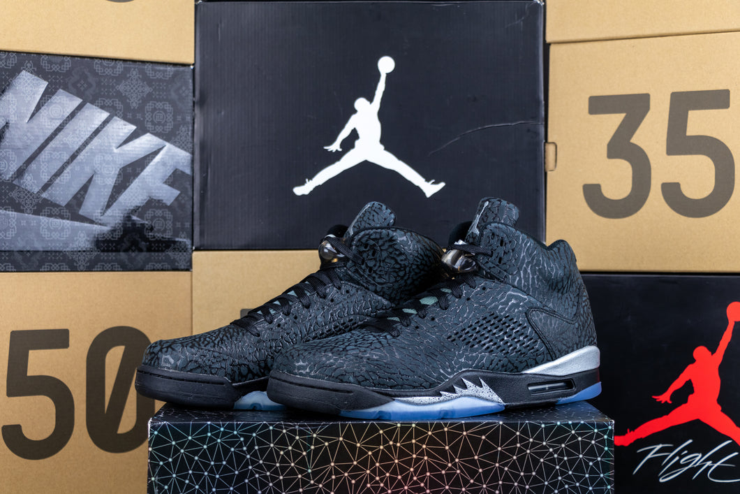 Air Jordan 5 Retro - 3LAB5 Black Silver