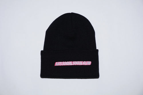 Anti Social Social Club Mr. Bean Black Knit Beanie