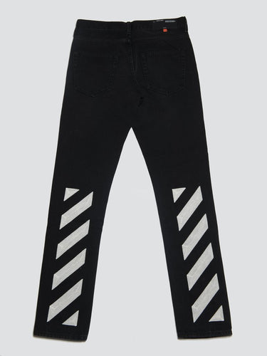 Off-White Diagonal Slim Jeans