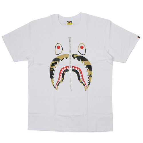 Bape 1st Camo Shark Tee - White/Yellow