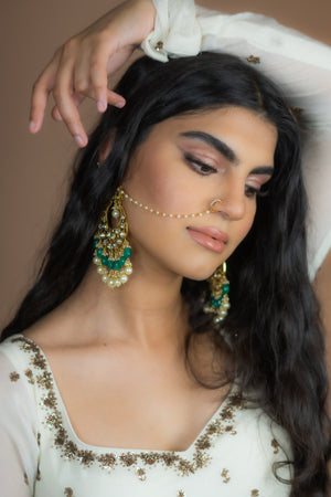 HUSNAH Kundan Earrings