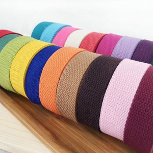 50mm 35 COLOURS, 100% Pure Cotton Herringbone Twill Tape. Lightweight Webbing