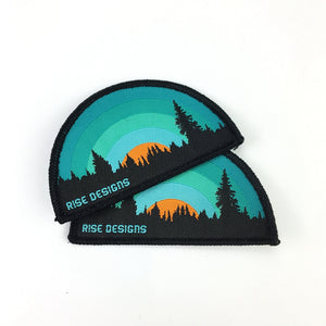 1000 High quality wholesale customized shape woven patch for clothing