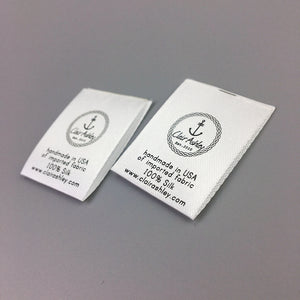 1000 Customized satin printed label washable care label clothing label