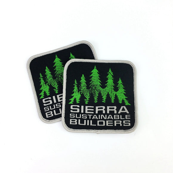 200 custom woven brand patches for clothing