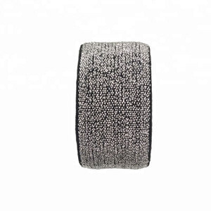 25mm custom jacquard ribbon glitter elastic band for waistband