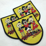 500 customized wholesale iron on backing woven patch with china factory