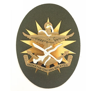 Angkatan Tentera Malaysia Golden Soft Rubber Silicone Cap Badge for Military Cap