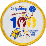 100 Birthday Woven Badge