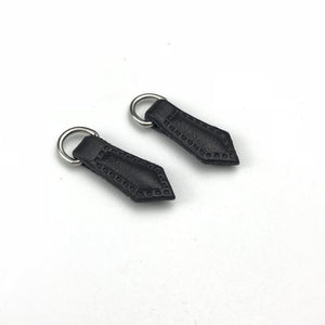 Cheap garment accessory factory custom logo leather zipper pull