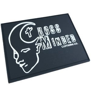 Cheap price hot Promotional custom logo rubber patch with sew-on line
