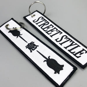 custom fabric hot selling Promotion Flight Embroidery Keychain