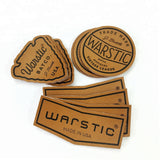 50pcs Clothing Labels Maker Design Custom Heat Press Logo Genuine Leather Patches for Jacket