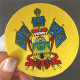 1000 Custom-Made 50d High Density 7cm Diameter Woven Patch