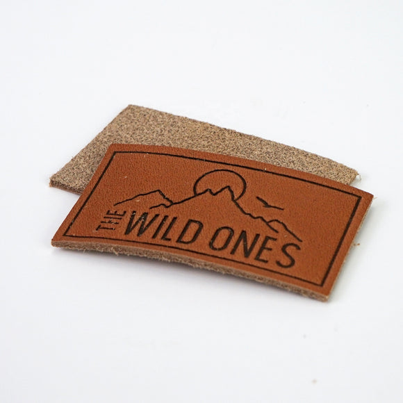 500 Custom durable garment leather patch embossed