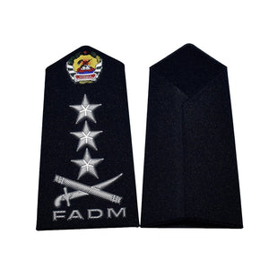 Custom military army navy PVC silicone pilot rank epaulettes